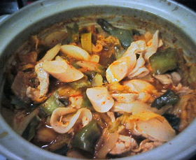 リサーラソーセージin ピリ辛キムチ鍋