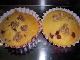 黒糖キャラメルとクルミのカップケーキ
