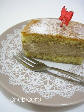 ヘーゼルナッツ*カフェケーキ