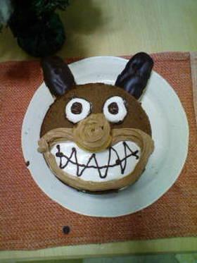 バイキンマンのケーキ~手抜き編~