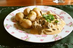 スイス風牛肉のクリーム煮・ロスティ添え