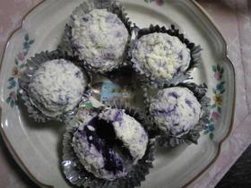 紫いもdeホワイトチョコボール