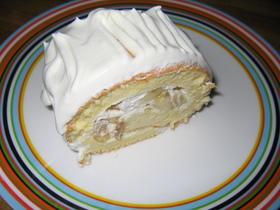 白いロールケーキ♪