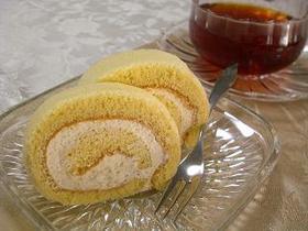 米粉でふわふわメープルロールケーキ