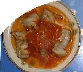 鶏のガーリックステーキ(トマトソースあえ)