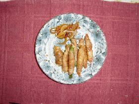 豚肉の野菜巻き照り焼き