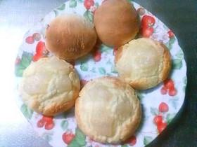 簡単ホットケーキミックスで梨パン♪。