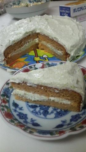 つぶつぶ枝豆♪ずんだクリームきなこケーキ