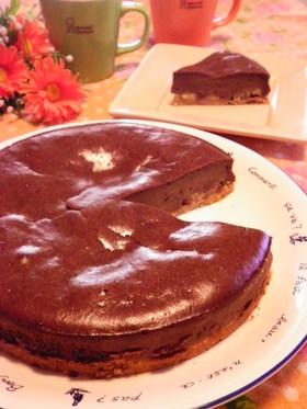 ココア&バナナのベイクドチーズケーキ