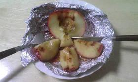 男の料理 オーブントースターで焼きりんご