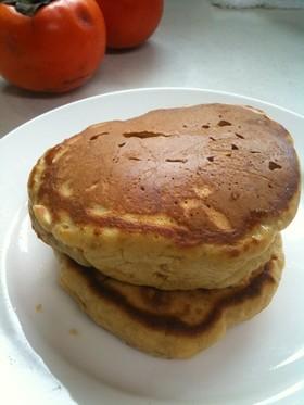 柿とグラハム粉の、朝食パンケーキ。