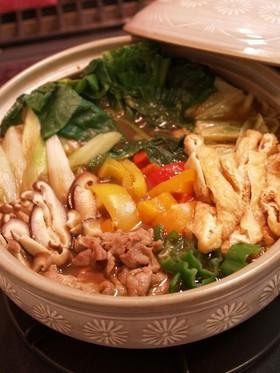 あさりを絡めた和風カレー鍋