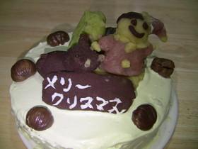 和風なクリスマスケーキ