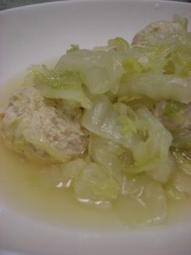 白菜と鶏団子のウマ煮@はなまるアレンジ