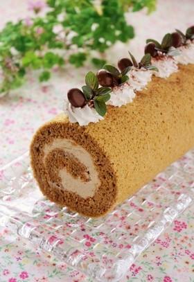 シナモン薫る♪コーヒーロールケーキ
