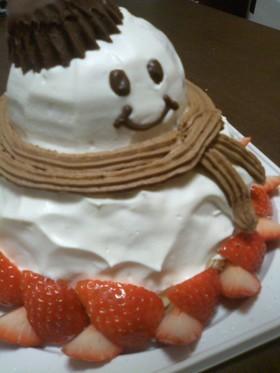 雪だるまのドームケーキ