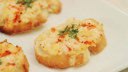 前菜・おつまみに、えびパン。