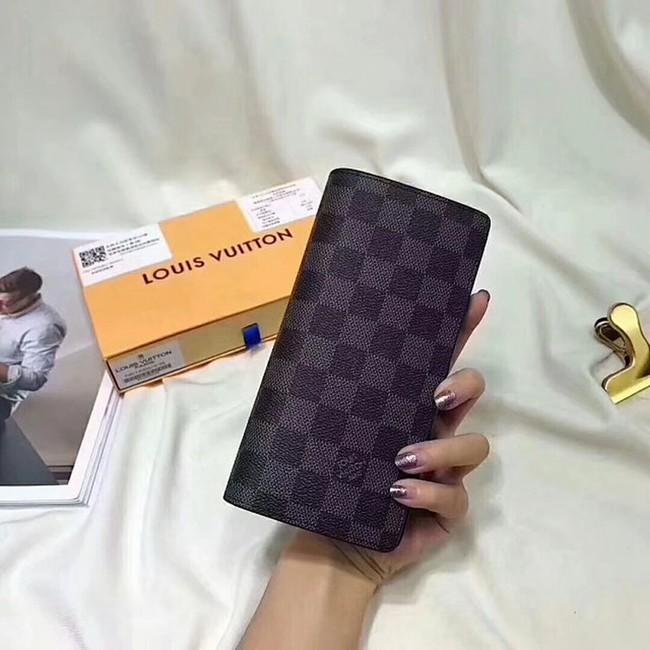 new styles 0c3a5 93c2a ルイヴィトン ダミエ ブラック 長財布 二つ折り カード入れ ...