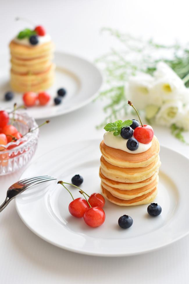 可愛いパンケーキ
