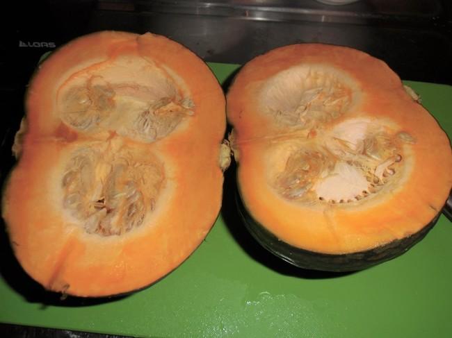 かぼちゃ、簡単まっぷたつ