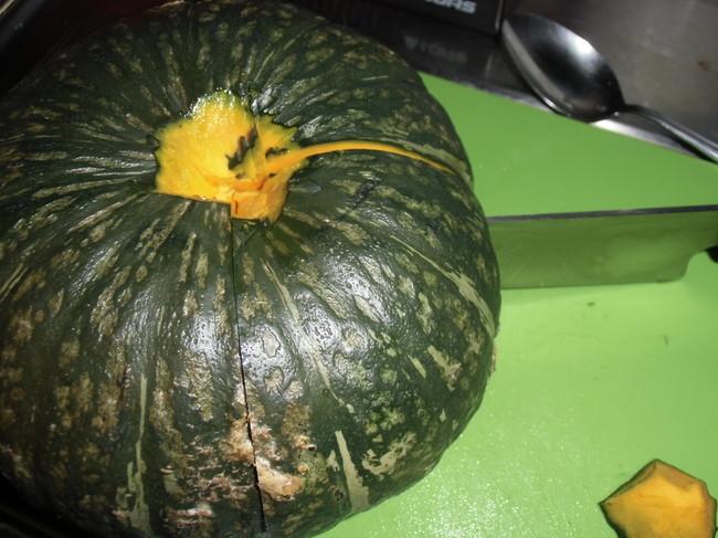 かぼちゃ1/4カットに挑戦