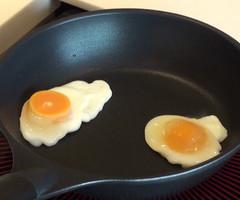 【自由研究・動画で紹介】冷凍卵で「ふたごの目玉焼き」を作ろう!