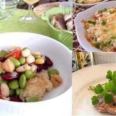 豆づくしイタリアン!ひよこ豆と夏野菜のサラダや定番レンズ豆の絶品ソース
