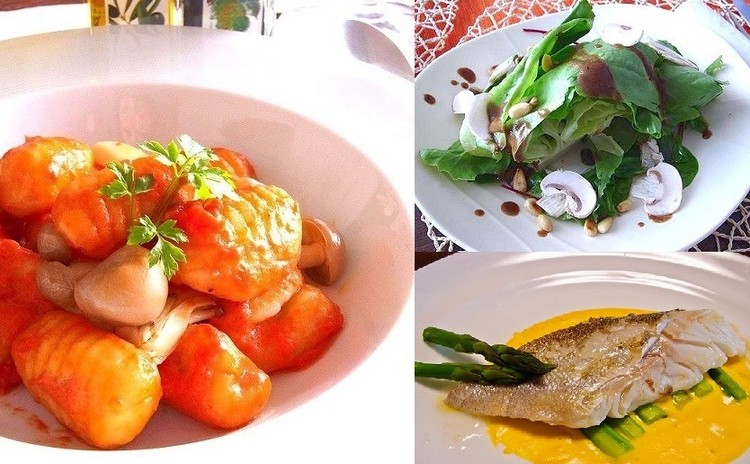 サツマイモのニョッキやカボチャのソース 秋を感じるレストランメニュー