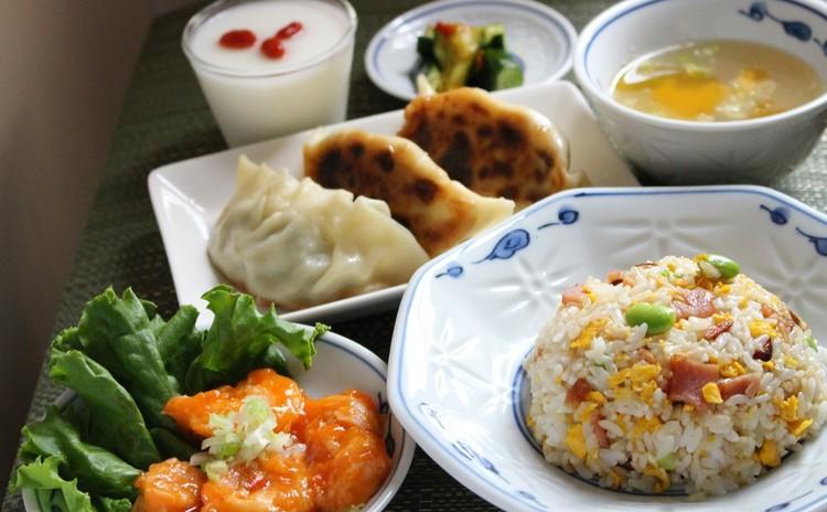 中華の献立を学ぼう!エビチリ 枝豆チャーハン 皮から作る餃子 杏仁豆腐