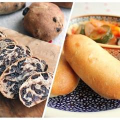 デリ付!サンドにピッタリのオニオンパニーニ&カレンズいっぱいライ麦パン