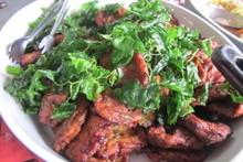 料理レッスン写真 - アツアツ揚げたてのトードマンプラー&モチモチ太麺ビーフン炒め
