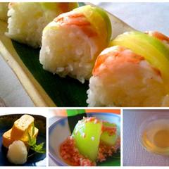 巻き寿司のコツを伝授•細巻き•たずな巻き&出し巻き卵•冬瓜のそぼろ餡