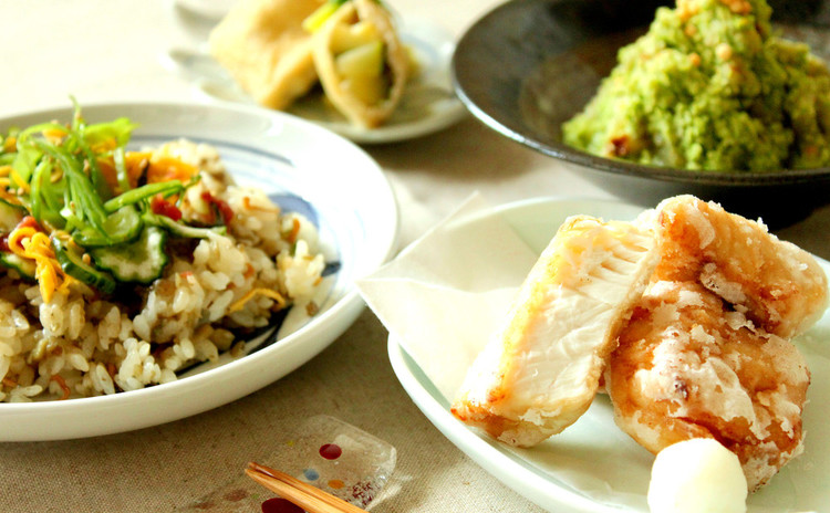 【子連れ限定日】学ぶと簡単!太刀魚の竜田揚げと京風夏ちらし寿司♫
