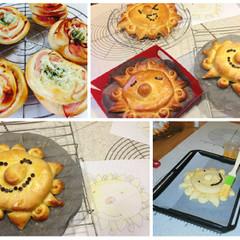 夏休み親子レッスン『大きなパンを作ろう♪』&『大人気お総菜パン』
