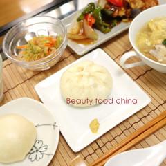 美中華料理*生地からつくる豚まん&芋餡まん 本格中華と美肌の潤い対策