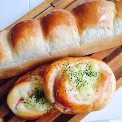 ふわふわスリム食パンとみんな大好きハムロール♪