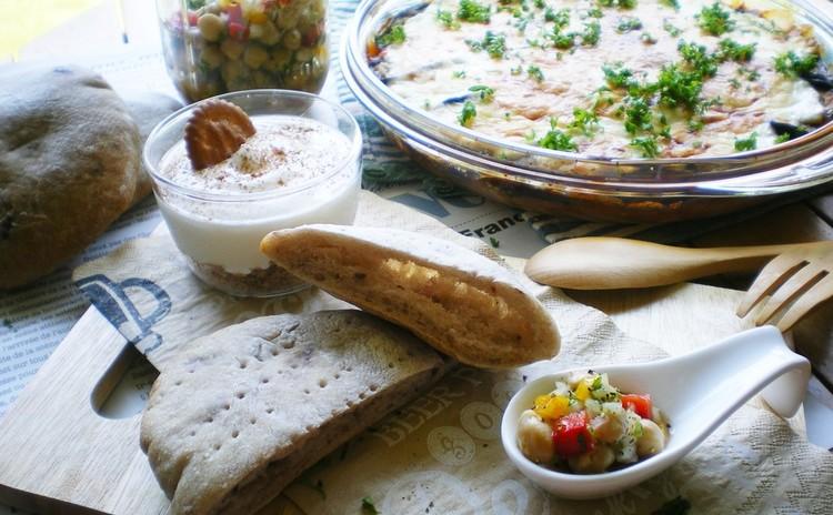 リクエスト開催!ギリシア料理を堪能♡ムサカ&彩りサラダ✿酵母ピタパン✿