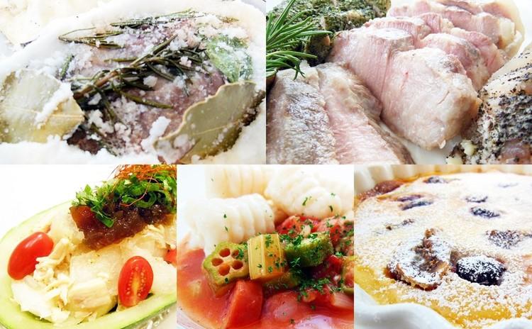 ★日程追加★豚の塩釜焼き3種♪つるぷよニョッキとガンボスープ✿お土産付