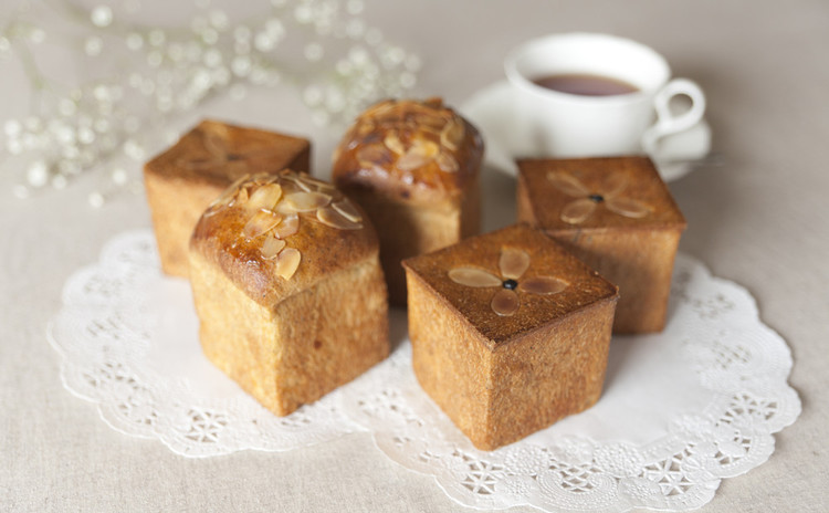 カスタードレッスン付き!紅茶のキューブパンと紅茶のクリームキューブパン