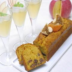 ラム薫るキャラメルとイチジクのパウンドケーキ&リンゴジュレ