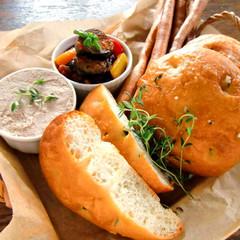 ★白神こだま酵母のタイムソルトパン2種・秋茄子と彩り野菜のカポナータ★
