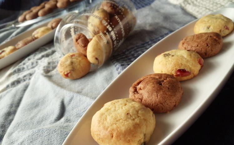 大粒チョコとドライフルーツたっぷりなソフトクッキー☆