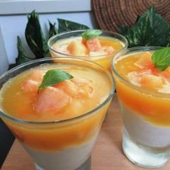 「桃のグラスデザート」生の桃のジュレとヨーグルトムース(カップ5個)