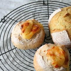 自家製酵母でハードパン!カレー風味のカンパーニュ&ごまごまフロマージュ