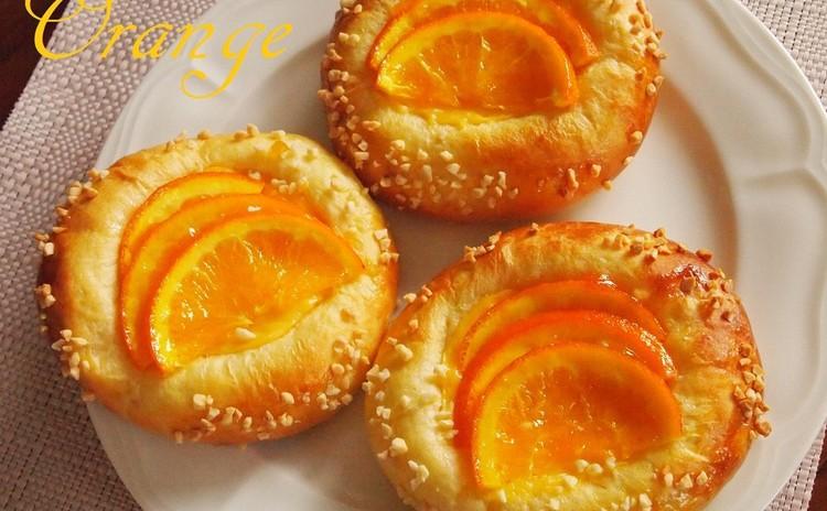 ランチ付♡爽やかオレンジカスタードパン&濃厚かぼちゃのなめらかプリン