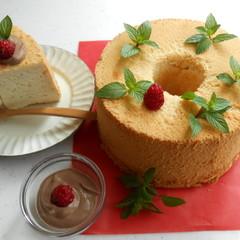 【無添加安心素材】香り豊かなシフォンケーキと絶品お豆腐生チョコクリーム