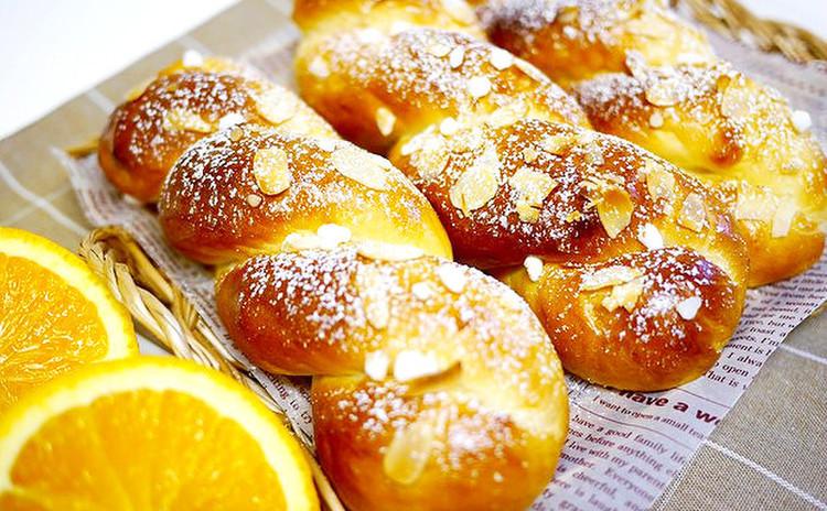 【ミニランチ付き】オレンジ風味のクリーミーツイストブレッド