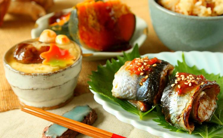実習レッスンで秋刀魚の梅焼き&坊ちゃん南瓜の射込み煮&柔らか茶碗蒸し