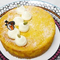 ハッピーハロウィン!ほくほくカボチャのチーズケーキ