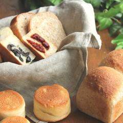 ホシノ酵母でオリーブとドライトマトのマフィンともっちり全粒粉山パン!